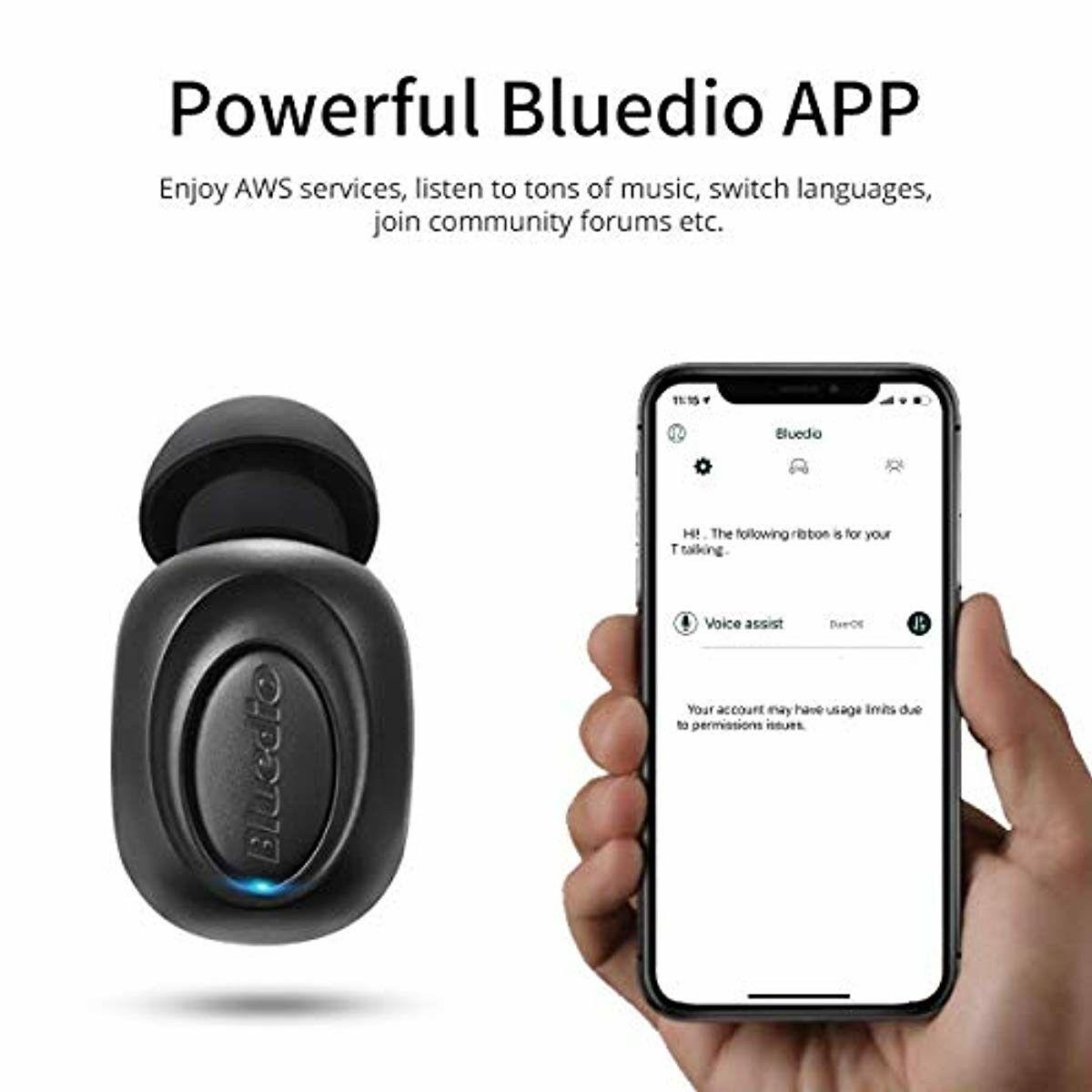 Wireless Earbud Bluedio T Talking Bluetooth 5.0 Mic | MOZOS