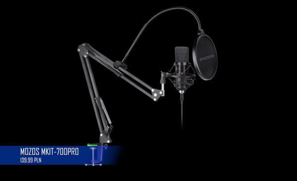 Najlepszy tani mikrofon USB do komputera? Mozos MKIT-700PRO